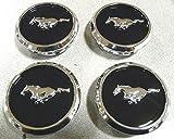 OEM Factory Stock 2005 2006 2007 2008 2009 2010 2011 2012 2013 2014 Ford Mustang Black Ebony Chrome Wheel Rim Center Caps Pony Horse Logo Set 4