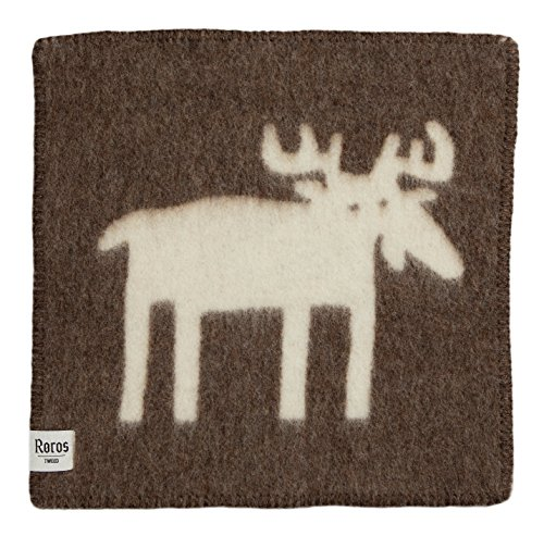 Roros Tweed Designer 100% Norwegian Wool Seating Pad (Elg in Brown/Natural)