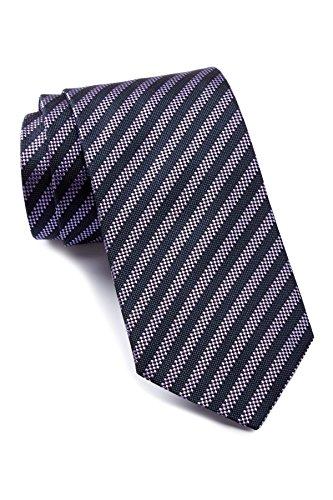 Boss Hugo Boss Diagonal Stripe Woven Italian Silk Tie, Medium Purple 3