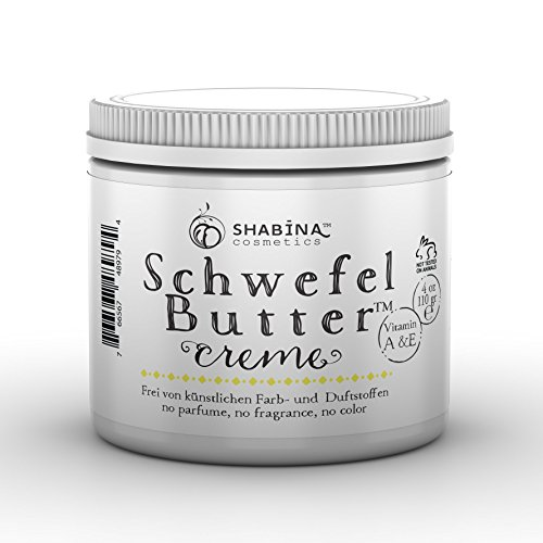 schwefelbutter body cream butter, pure sulfur, all natural,