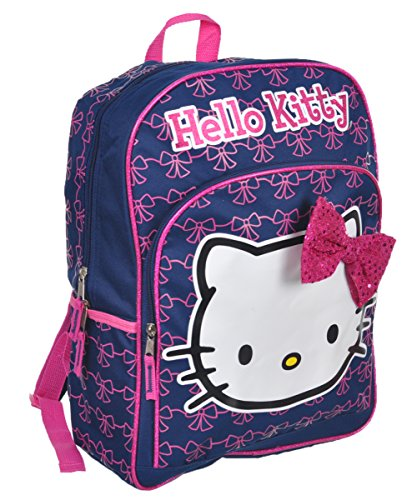 UPD Hello Kitty Sequin Bow Backpack - Navy, one Size -