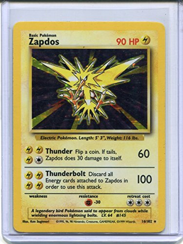 Zapdos Holo Rare Pokemon #16 Photo - Pokemon Gaming