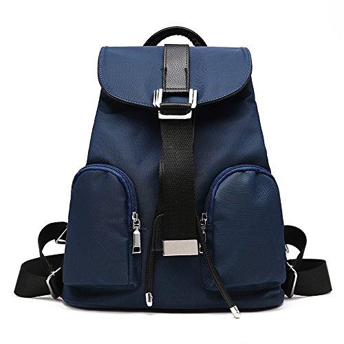 Vvting - Bolso mochila  de nailon para mujer Azul