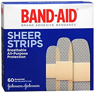 B-A Shr 60 4668 Asst Size 60s Band-Aid Family Assortment Sheer Bandages