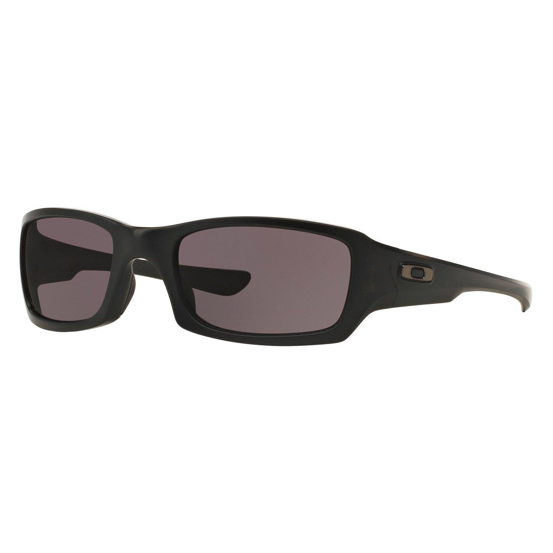 Oakley Men's Fives Squared Rectangular Sunglasses, Matte Black, 54.0 mm by Oakley