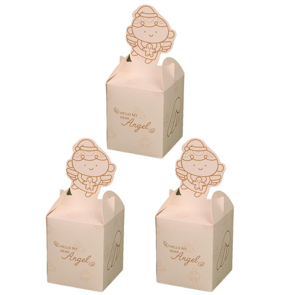 8.5 10cm Da.Wa 3X Cajas de Dulces Galletas Cajas de Regalo para Navidad Galletas para la Boda Cumplea/ños Fiesta de Bienvenida Amarillo 8.5