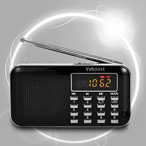 Holiday Song Search Listening Cd (Veboost Mini Digital FM Radio Multifunction Portable Speaker Digital FM Radio Speaker USB Audio Player Micro SD TF Card Mp3 Music Player Y896)