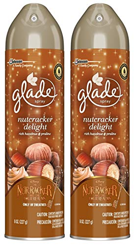 (Glade Air Freshener Spray - Nutcracker Delight - Net Wt. 8 OZ (227 g) Per Can - Pack of 2 Cans)