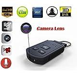 MDTEK@ 16GB +HD 19201080P mini Spy Hidden Car Keychain Camera DV with Night Vision Motion Detection Portable Covert Nanny Car Key Camera DVR