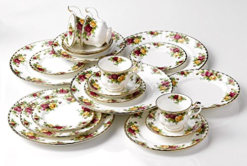 Royal albert old country roses 20 piece dinnerware set for Kitchen set royal surabaya