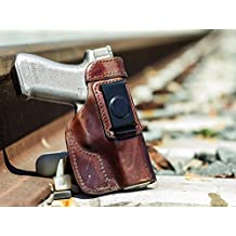 """OUTBAGS USA LS8XD Full Grain Heavy Leather IWB Conceal Carry Gun Holster for Springfield Armory XD 4"""". Handcrafted in USA."""