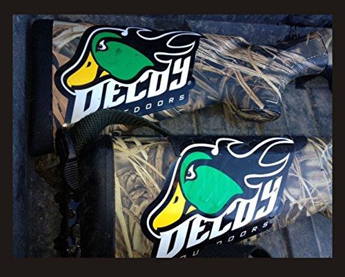 Cheap Decoy Outdoors 1 FireQuacker Drake Mallard Logo, Duck Hunting Sticker Decal