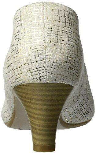 Caprice 22403, Escarpins Femme Blanc (Offwhite Multi)