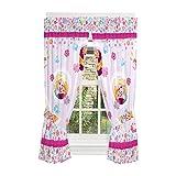 Disney Frozen Kids Room Window Curtain Panels with Tie Backs, 82″ x 63″, Light Purple For Sale