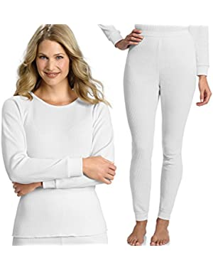 Hanes Everyday Women's Thermal Set (Long Sleeve Crew and Long Johns) - Colors Available