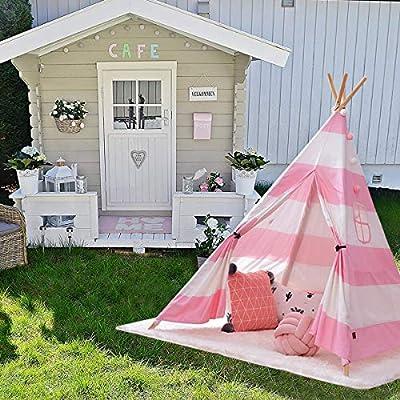 AllRight Tipi niños Interior Juego Tienda casa jardín para niños niña: Amazon.es: Hogar
