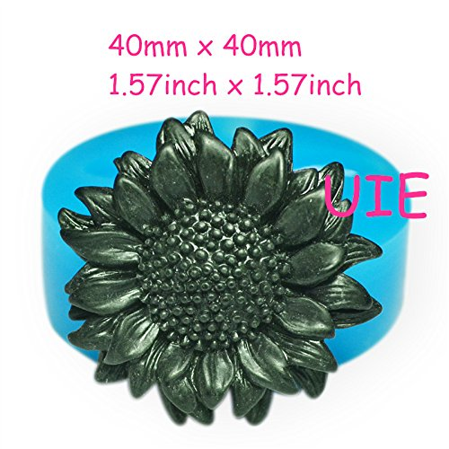 - 191LBH Sunflower Silicone Mold - for Sugarcraft Cake Decoration Candy Polymer Clay Chocolate Biscuit Cabochon