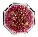 quart crystal pyramid - Harmonize Rose Quart Orgone Octagon Vastu Plate Reiki Healing Crystal Symbol