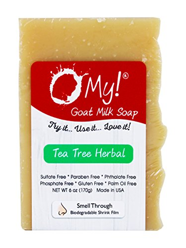 O My! Tea Tree Herbal Goat Milk Soap - All Natural, Palm Oil Free, Handmade Soap Made in USA