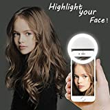 [Updated] LST Selfie Ring Lighting Rechargeable [38 LED] Dimmable Clip Light Portable for iPhone, Samsung, Tablet, iPad (White)