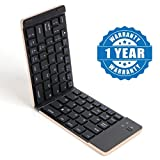Captcha F66 Portable Mini Bluetooth Wireless Foldable Keyboard Compatible With All Other Smartphones (Color May Vary)