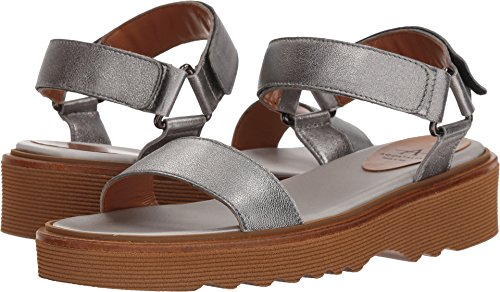 Aquatalia Women's Wande Gunmetal Metallic Leather 8 B US