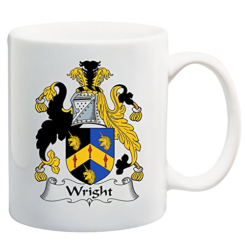 Wright Coat of Arms/Wright Family Crest 11 Oz Ceramic Coffee/Cocoa Mug by Carpe Diem Designs, Made in the U.S.A.