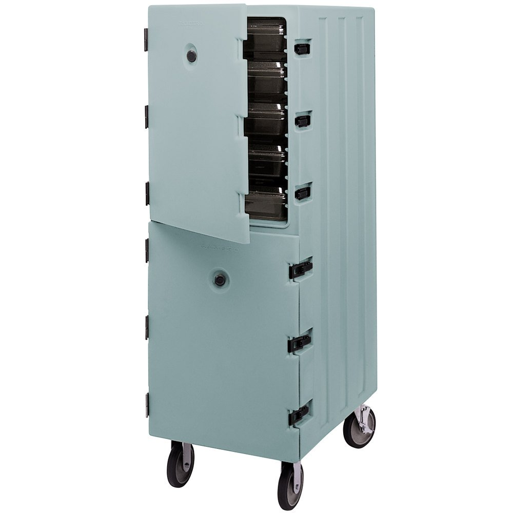 Cambro APT-1826DBC401 1826DBC401 Slate Blue Double Compartment Food Storage Box Camcart Carrier