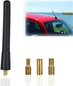 Antena de coche, varilla corta para una óptima recepción AM/FM, antena de varilla corta universal para coches, camiones y otros, antena de techo con ...