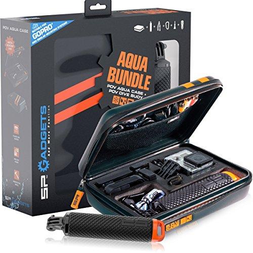 SP Gadgets Go Pro Bundle Aqua Case, Black, One Size by SP Gadgets