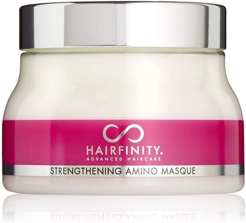 Hairfinity Máscarilla Tratamiento con Amino de Refuerzo Capilar Máscara Hidratante del Cabello y Acondicionador Profundo para Cabello Dañado, con Colágeno Hidrolizado, para el crecimiento 236 ml