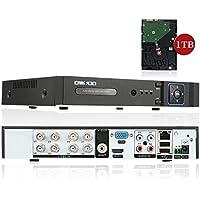 OWSOO 8CH Full 1080N(9601080) AHD DVR HVR NVR H.264 HDMI P2P Cloud Network DVR Digital Video Recorder with 3.5 Inch 1TB HDD
