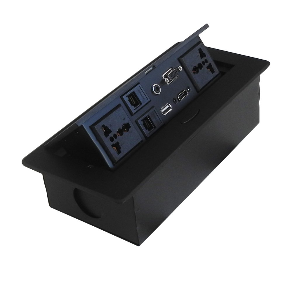 Damped Multimedia Outlet Socket Connection Box with Universal Power, VGA,HDMI and so on by ZESHAN (Image #2)
