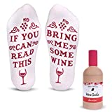 "Best Novelty Gifts - Cavertin Funny ""Bring Me Wine"" Cotton Socks Review"