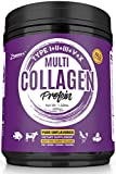 Multi-Collagen Protein Powder 21oz Best Value - High-Quality Blend of Grass-Fed Beef, Wild Fish, Patent Formula-TendoGuard️-Chicken, Eggshell Collagen Peptides, Providing Type I, II, III, V and X.
