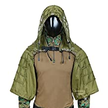 Tactical Sniper Tog Ghillie Base Hunting Sniper Viper Hood AVailable Colors Army Green Brown CP Multicam Black
