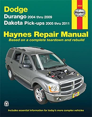 dodge durango 2004 2009 dakota pickups 2005 2011 haynes repair rh amazon com 2004 dodge dakota factory service manual 2004 dodge dakota service manual pdf