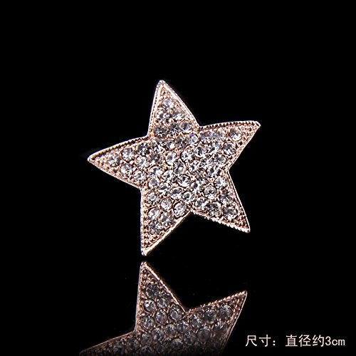 Price comparison product image Korean high-end fashion star small collar pin collar shirt collar female folder rhinestone brooch pin scarf accessories