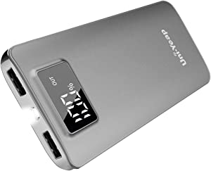 Uni-Yeap 11000mAh Battery Charger Power Bank with High Speed and Flashlight with LCD Screen for iPhone 11 Xs Xr X 8 7 6s 6 iPad Samsung Galaxy and All Smart Phone (Grey)