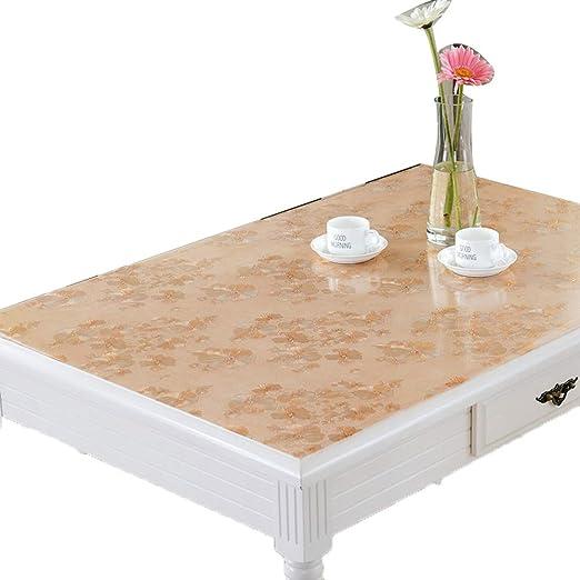 Protector de mesa de PVC Mantel - Mantel de PVC dorado Paño de ...