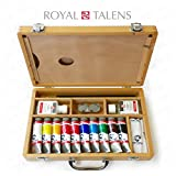 Royal Talens - Van Gogh Acrylic Art Set in Premium Wooden Case - With Paints, Palette, and Brushes