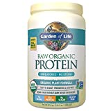 Garden of Life Organic Vegan Protein Powder with Vitamins and Probiotics - Raw Organic Plant Based Protein Shake, Sugar Free, Unflavored, 20.0oz (1 lb 4 oz/568g) Powder