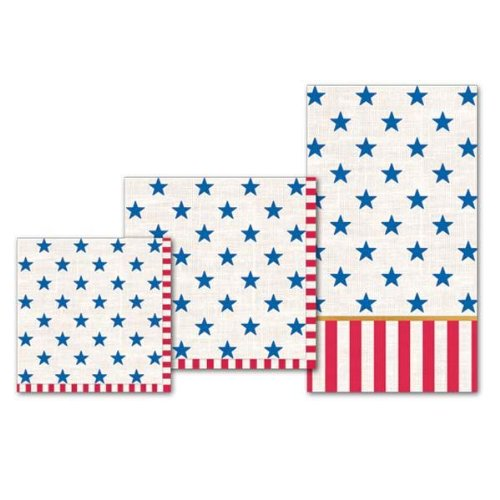 Michel Design Works Stars and Stripes Lunch Napkin, 20-Pack, -