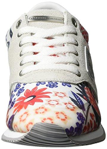 Tommy Hilfiger P1285hoenix 3c3, Zapatillas para Mujer Blanco (Libby Floral 902)