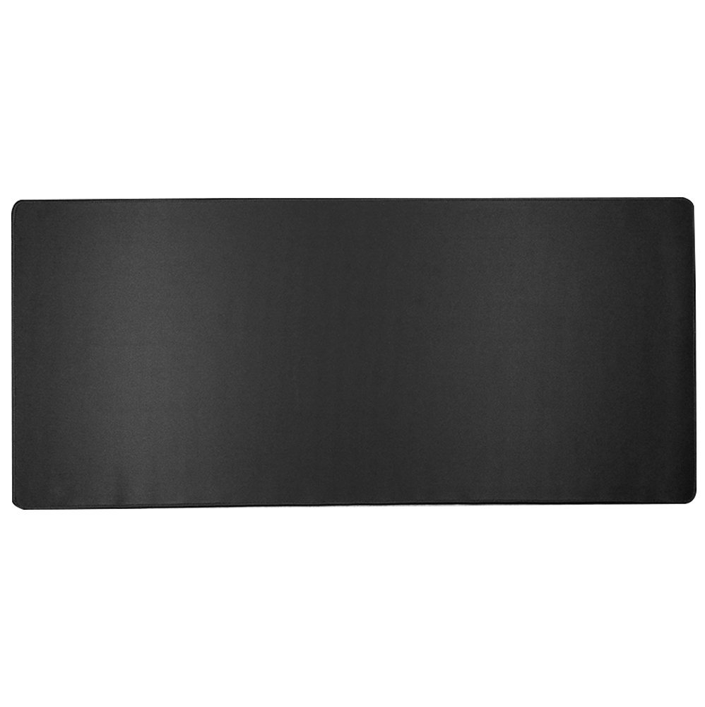Large Gaming Mouse Pad, Extended Stitched Edges Waterproof Mouse Pad with Rubber Base,Optimized Accuracy and Control for All Computer Mouse,Fits Both Mouse & Keyboard(Pure Black, 800mm×300mm×2mm)