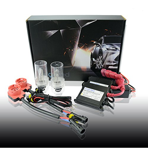"""Innovited DC 35W Xenon HID Lights Kit""""All Bulb Sizes and Colors"""" with Premium Slim Ballast - D2S D2R D2C - 8000K - Ice Blue - 2 Year Warranty"""