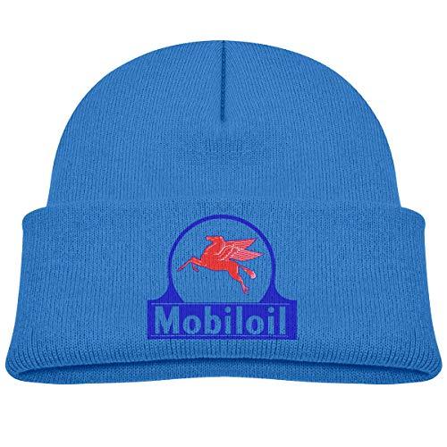 MUPTQWIU Mobil Pegasus Children's Beanie Hat Cap Cuffed Knit