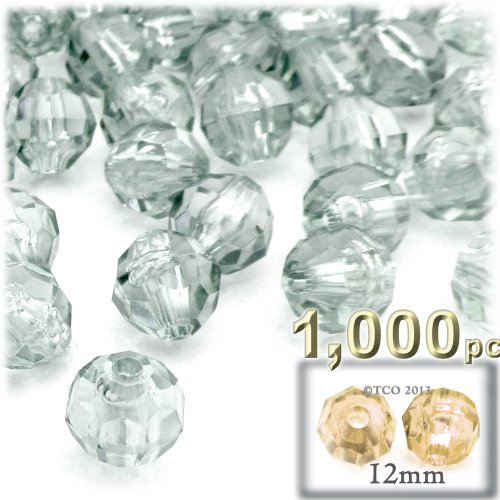 Transparent Faceted Beads - 4