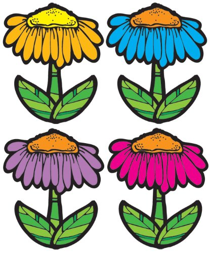 Carson Dellosa D.J. Inkers Flowers Cut-Outs -