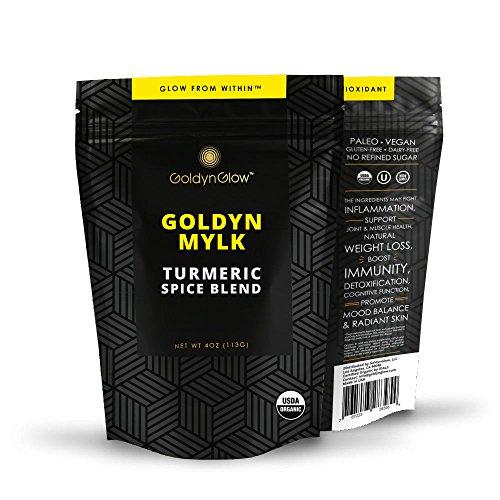GoldynGlow GOLDYN MYLK – Organic Turmeric Golden Milk Spice Blend. Anti-inflammatory Ayurvedic Natural Supplement. Turmeric Latte Elixir – Non-GMO, Vegan, Gluten-Free Adaptogen – 25 Servings Review